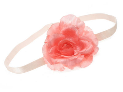 Pink Rose Flower Head Band