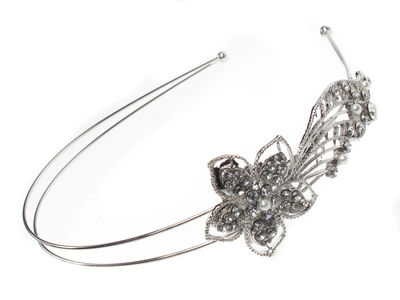 Crystal Trailing Flower Hair Band