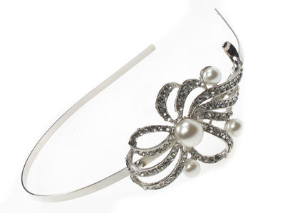 Crystal Looped Flower Hair Band
