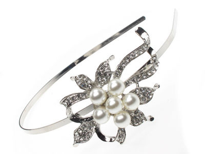 Pearl Cluster Flower Hair Band