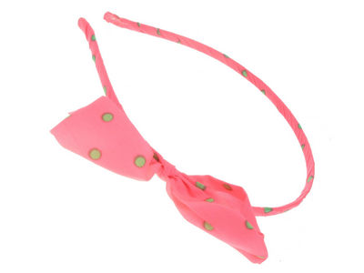 Pink Neon Bow Head Band