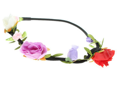 Lilac Red Garland Head Band