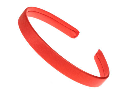 1.5cm Red Satin Headband