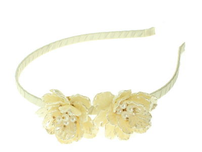 Cream Pearlised Flower Headband