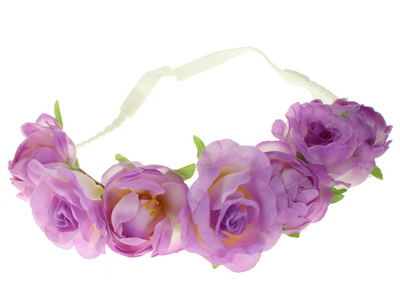 Lilac Rose Garland Festival Head Band