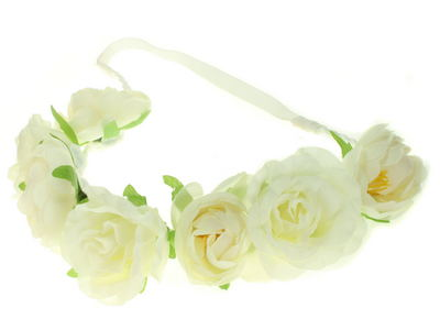 Ivory Rose Garland Festival Head Band