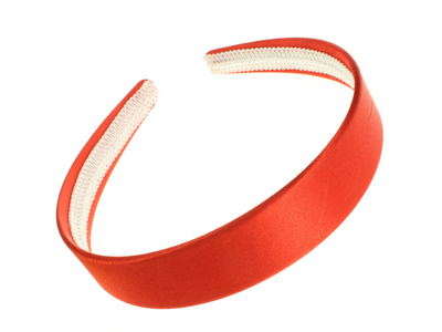 Bright Red Satin Alice Band