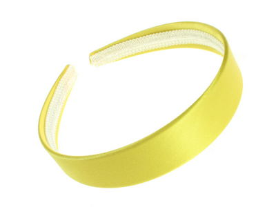 Bright Yellow Satin Alice Band