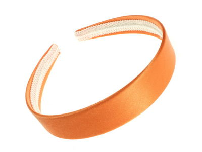 Bright Orange Satin Alice Band