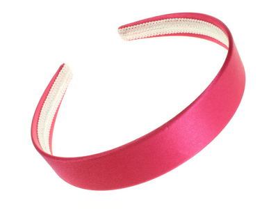 Bright Pink Satin Alice Band