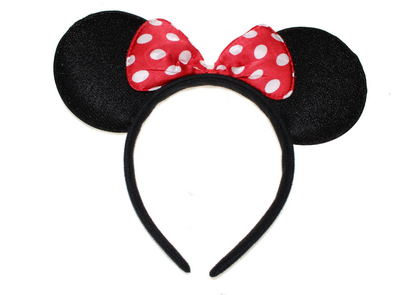 Spotted Bow Mouse Ears Head Band