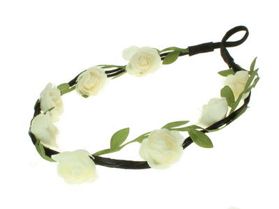 Ivory Rose Vine Garland Festival Head Band