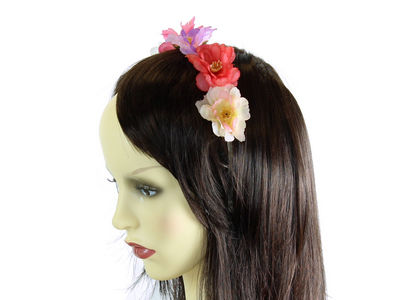 Pastel Wild Rose Flower Garland Headband
