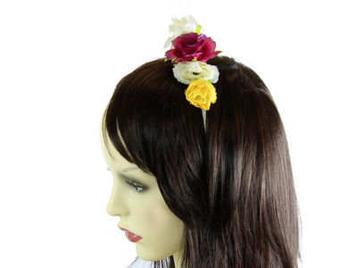 Rose Flower Garland Metal Headband