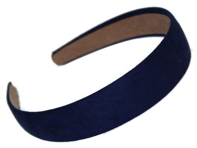 Navy Suede Effect Head Band