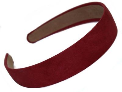 Dark Pink Suede Effect Head Band