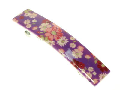 Purple Ditsy Floral French Clip Barrette
