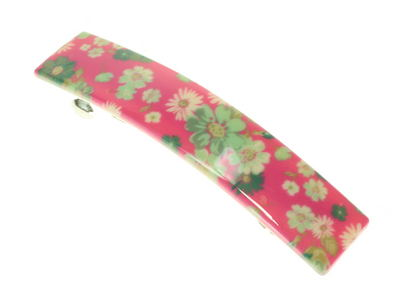 Pink Ditsy Floral French Clip Barrette