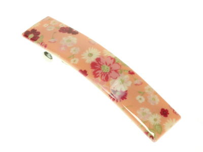 Peach Ditsy Floral French Clip Barrette