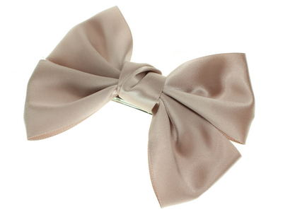 Mink Brown Bow  Barrette Hair Clip