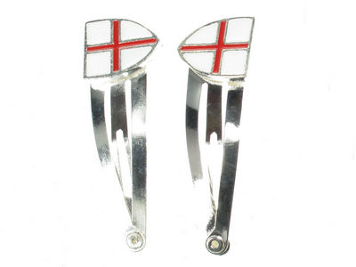 England Flag Hair Clip Bendies - Shield