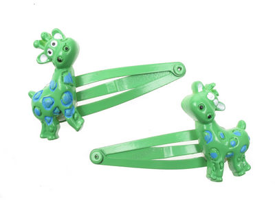 Green Giraffe Hair Clip Bendies