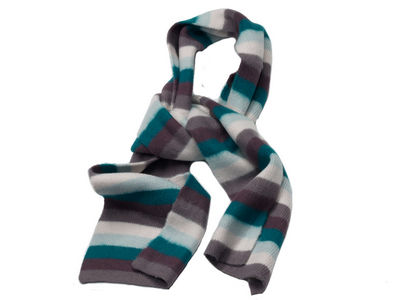 Winter Super Soft Striped April Scarf - Green