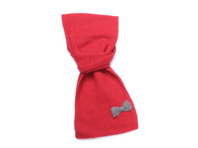 Winter Ultra Soft Bow Bella Scarf - Red