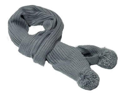 Winter Chunky Knit Carla Scarf - Mid Grey