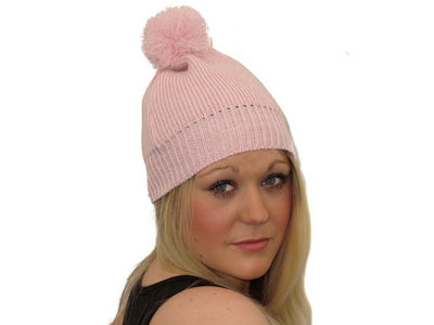 Winter Super Soft Gypsy Bobble Hat - Candy Pink