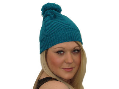 Winter Super Soft Gypsy Bobble Hat - Teal