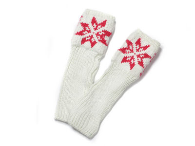 Winter Helga Knitted Hand Warmers - Winter White