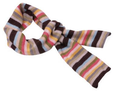 Winter Ultra Soft Striped Keira Scarf - Chocolate/Multi