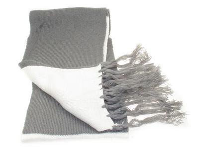 Winter Soft Knit Lily Scarf - Cream/Grey