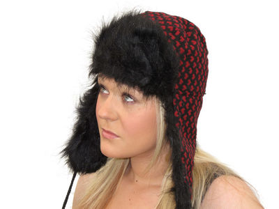 Red Rowley Trapper Hat