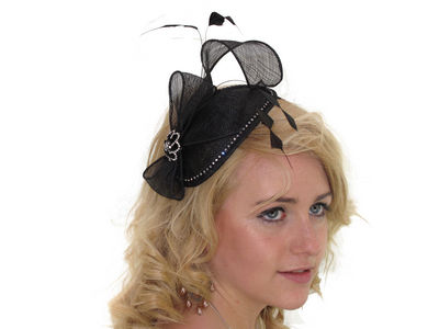Black Crystal Fascinator Band