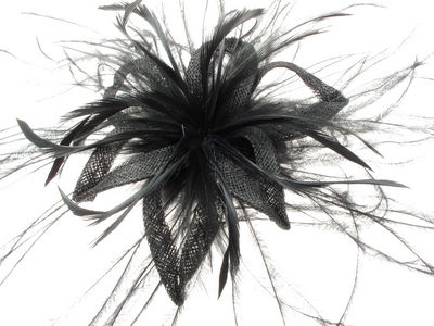 Black Star Flower Fascinator
