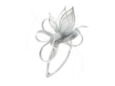 Silver Petal Looped Hair Band