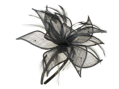 Black Petal Bead Fascinator Band
