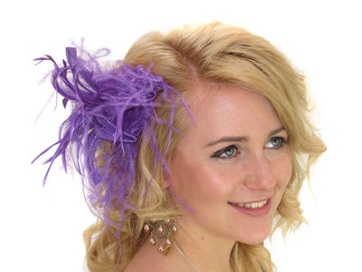 Purple Star Flower Fascinator