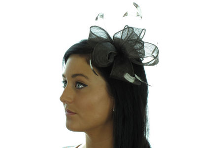Chocolate Sinamay Bow Fascinator