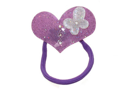 Purple Heart Butterfly Bobble