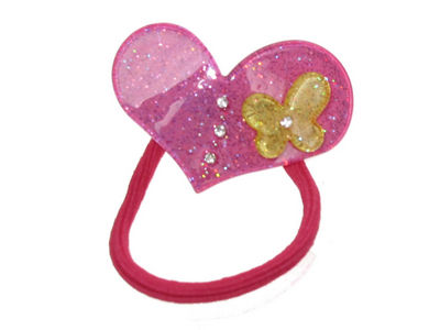 Hot Pink Heart Butterfly Bobble