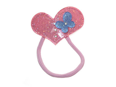 Candy Pink Heart Butterfly Bobble