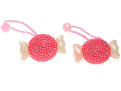 Pink/Cream Sweetie Hair Bobbles