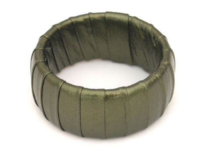 Green/Gold Wrapped Bangle