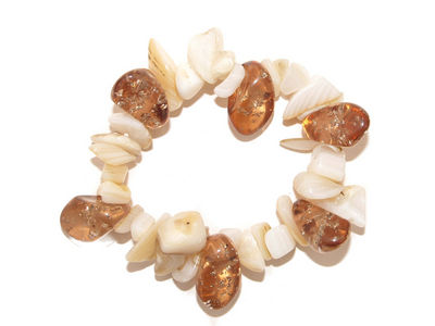 Smoky Brown Shell Bracelet