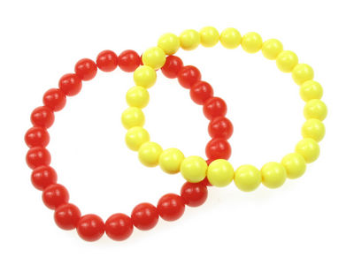 Beaded Bracelet - Yellow/Red