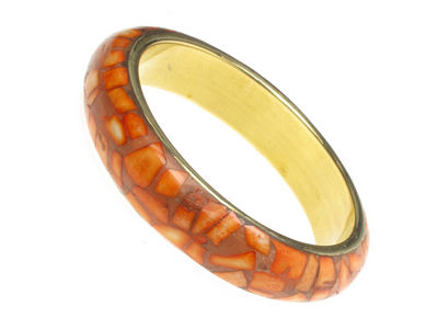 Orange Mosaic Bangle
