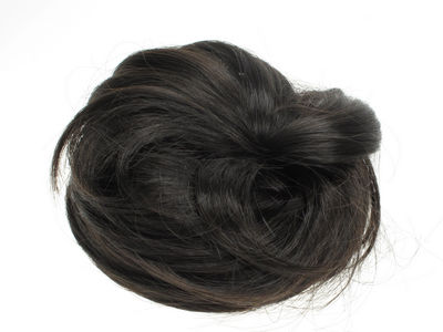 Very Dark Brown Artificial Hair Bun